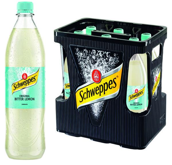 Schweppes Bitter Lemon Zero 6x1L  MEHRWEG