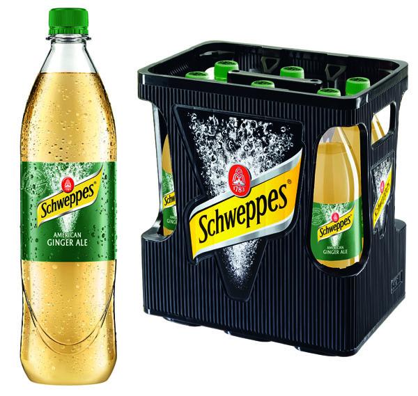 Schweppes Ginger Ale Zero 6x1L  MEHRWEG
